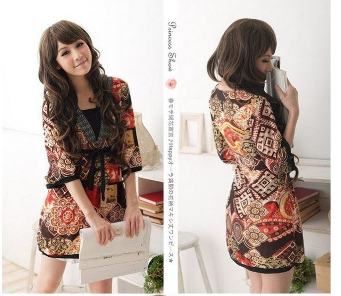 Cute O-neck Quarter Casual Women Mini Dress · Daisy Dress For Less ...