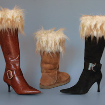 "Russian Wolf  ""Faux Fur"" Boot Topper"