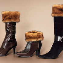 "Light Brown Wild Mink ""Faux Fur"" Boot Topper"