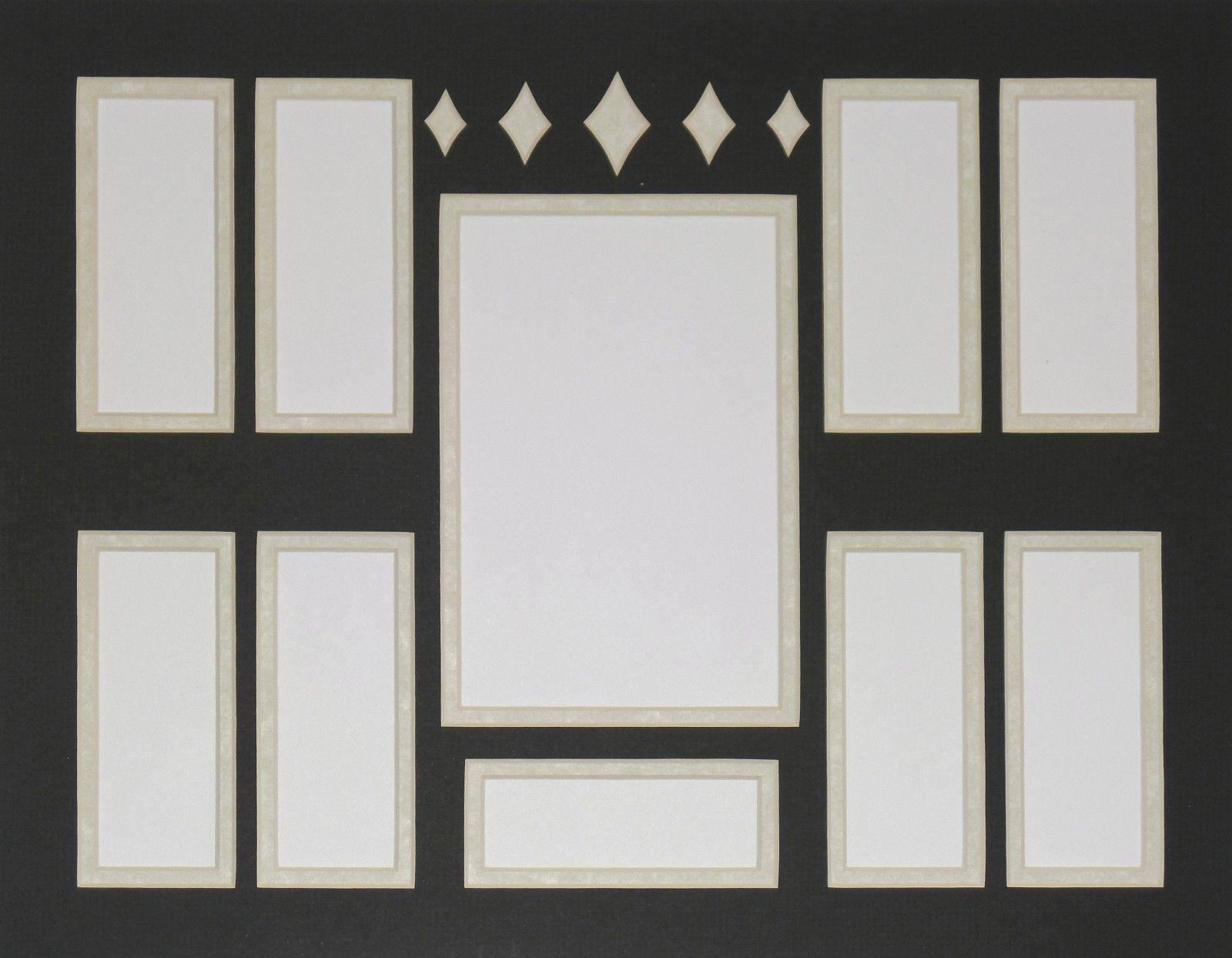 double photo mat film cell frame mat 11 x 14 diamond bar