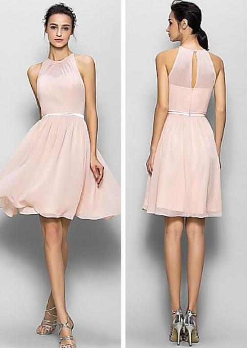 Blush Pink Bridesmaid Dresses Short Bridesmaid Dresses