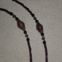 Beaded Eyeglass Chain Purple&Black/Paper-Wrapped Beads