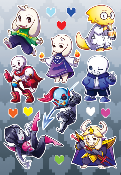 Undertale Sticker Pages On Storenvy
