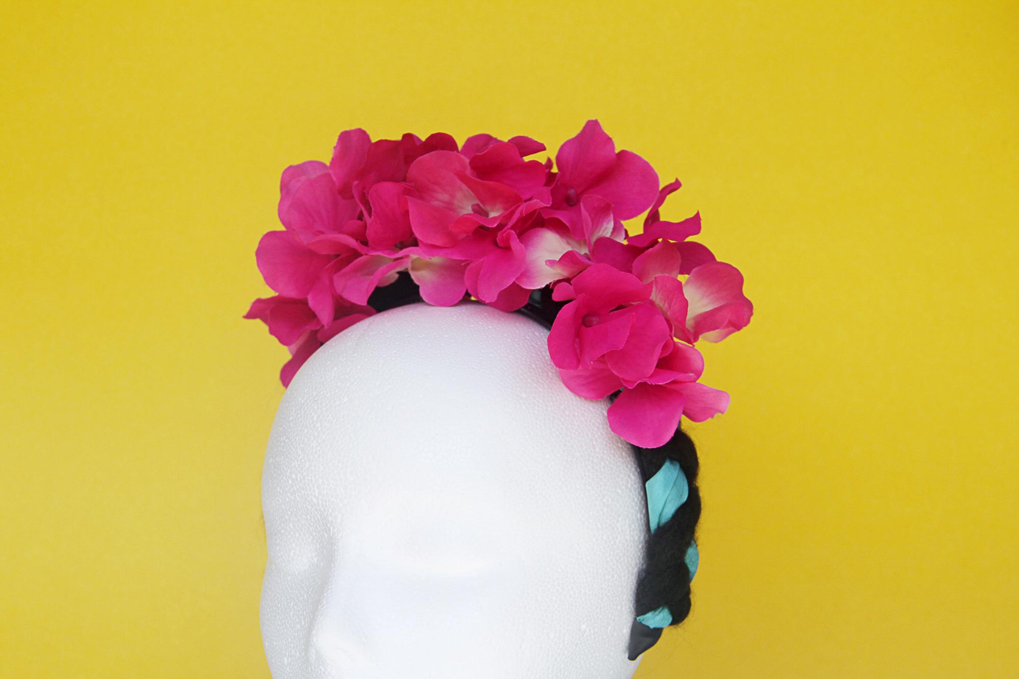 Friducha Flower Headband Pink Braided Headband Flower Crown