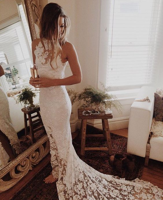Romantic boho wedding dresses princess backless lace skirt mermaid romantic boho wedding dresses princess backless lace skirt mermaid elegant white wedding gowns thumbnail junglespirit Gallery