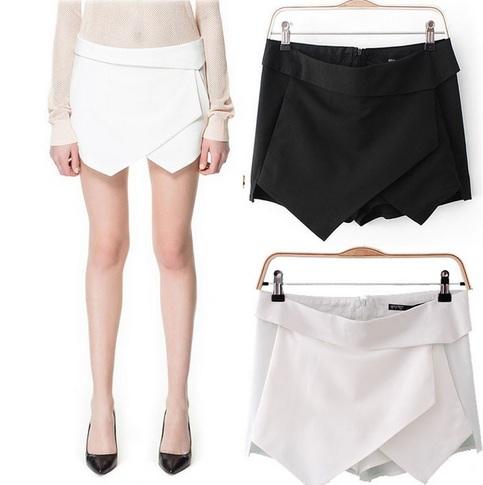 Fashion Women Vintage Irregular Shapes Shorts