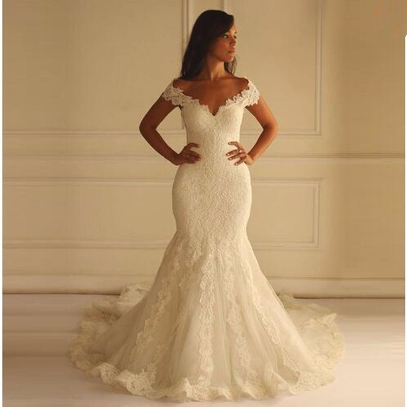 Mermaid Lace Wedding Dresses pwd0021 · BBDressing · Online Store ...
