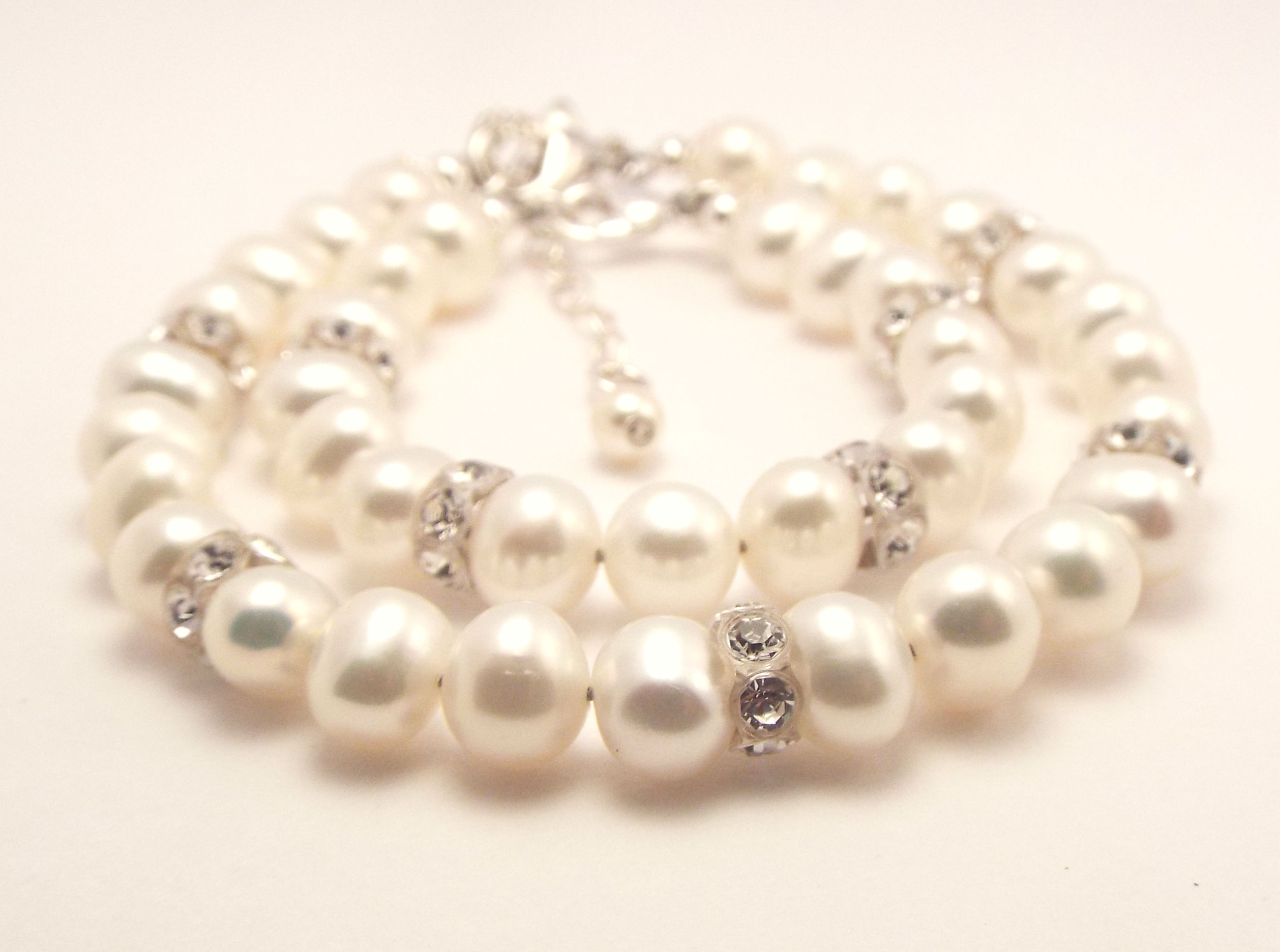 img product bracelet with pearl love charm freshwater