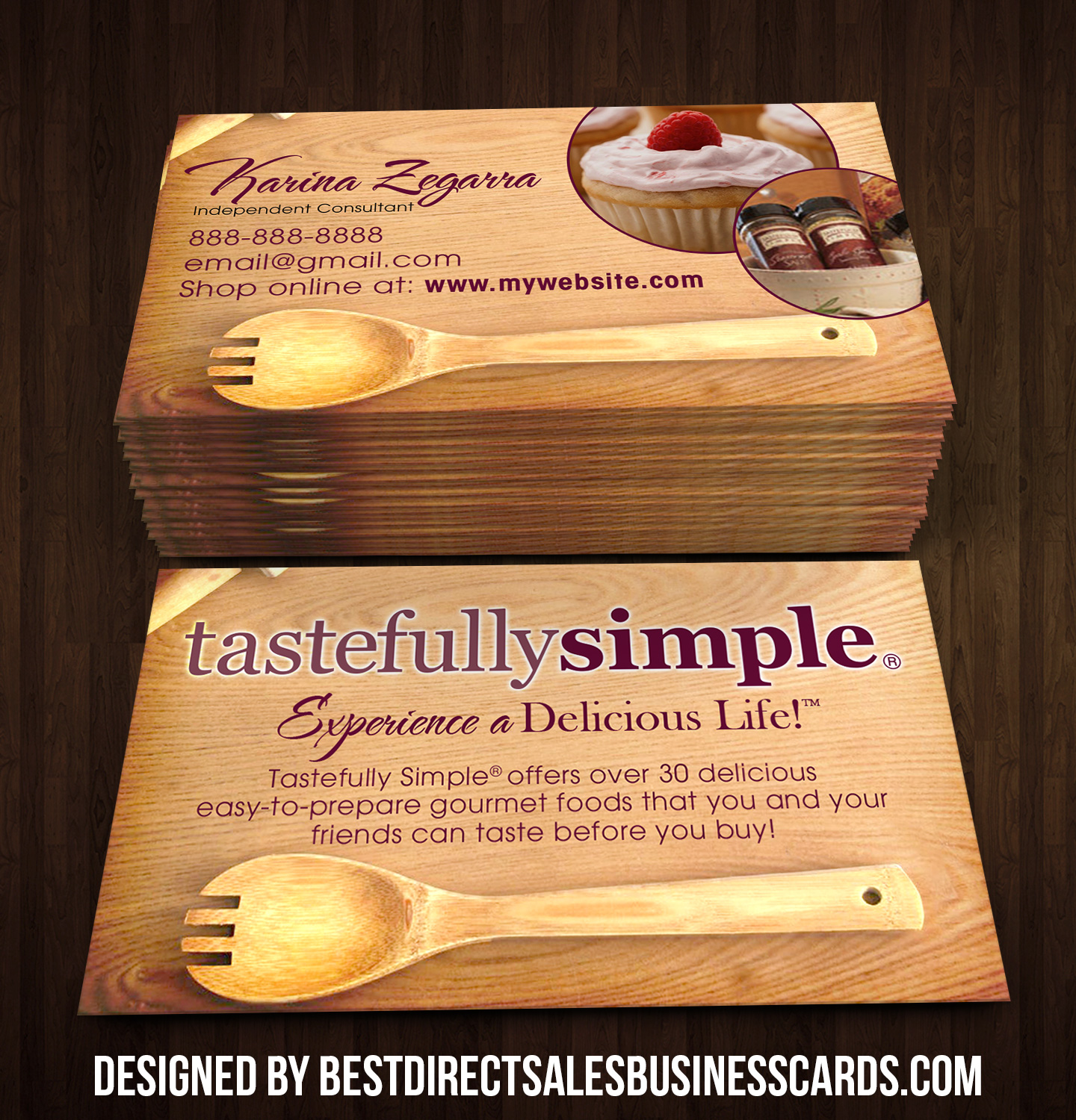 Tastefully Simple Business Cards 3 · KZ Creative Services