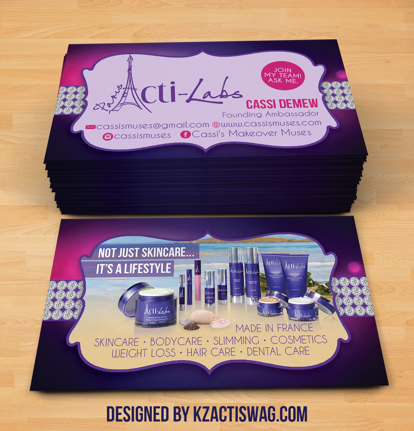 Acti Labs Business Cards 1 · KZ Creative Services · line Store