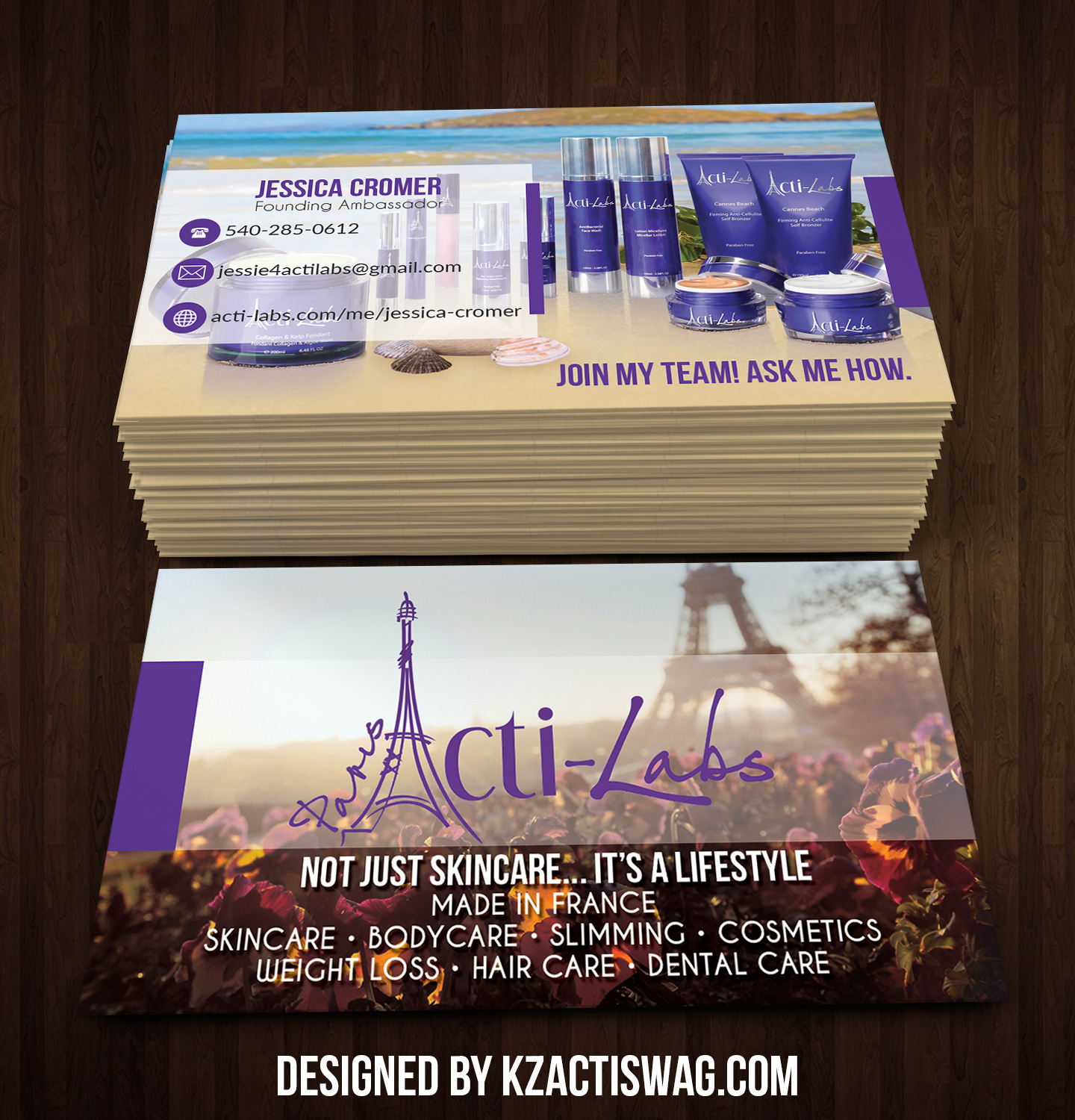 Acti-Labs Business Cards - 2 · KZ Creative Services · Online Store ...