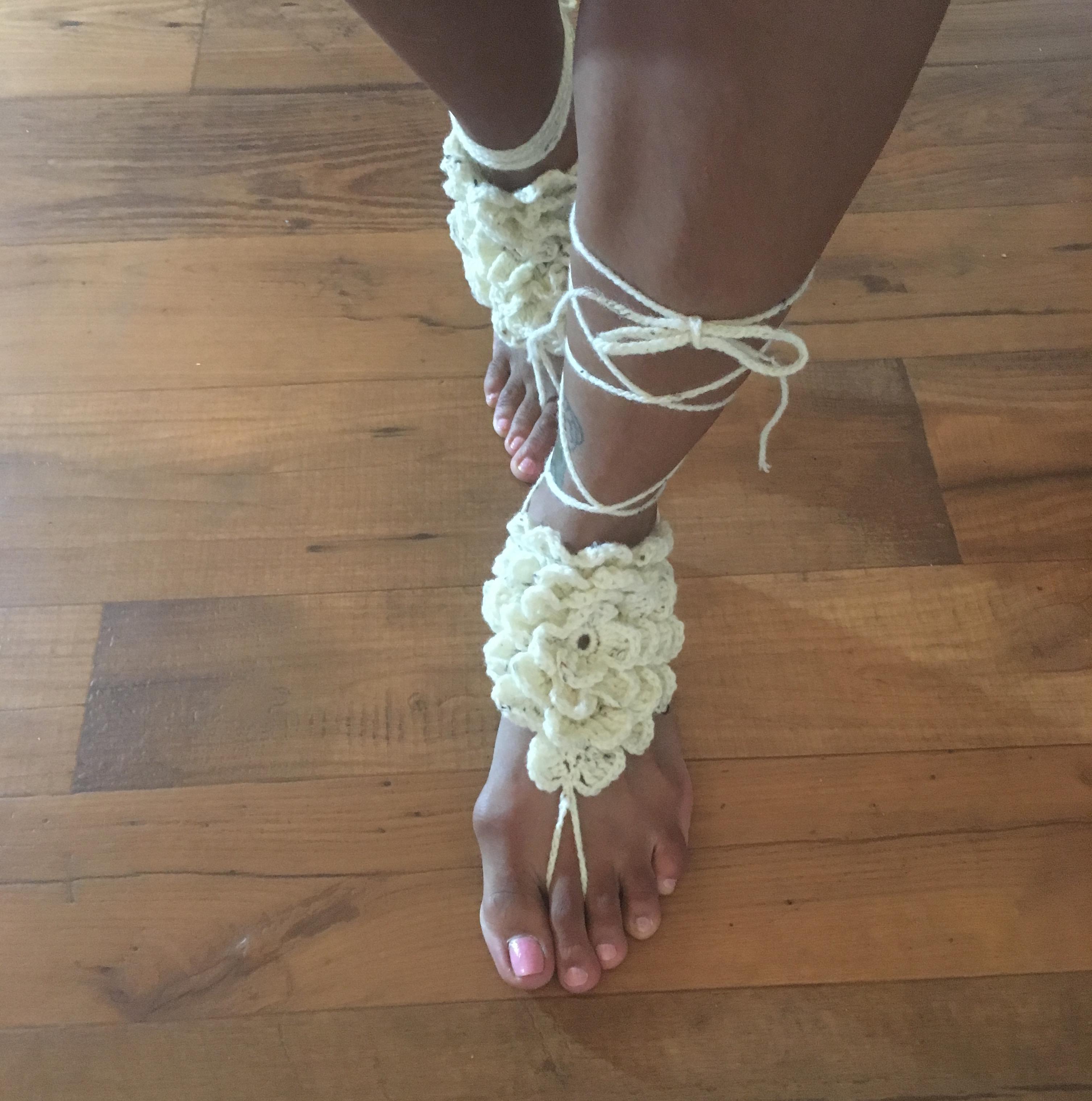 Crochet Barefoot Sandals Yoga Beach Wedding Bridal