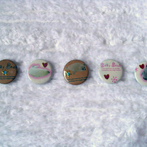 Fun Arctic Set of 5 Button Pins