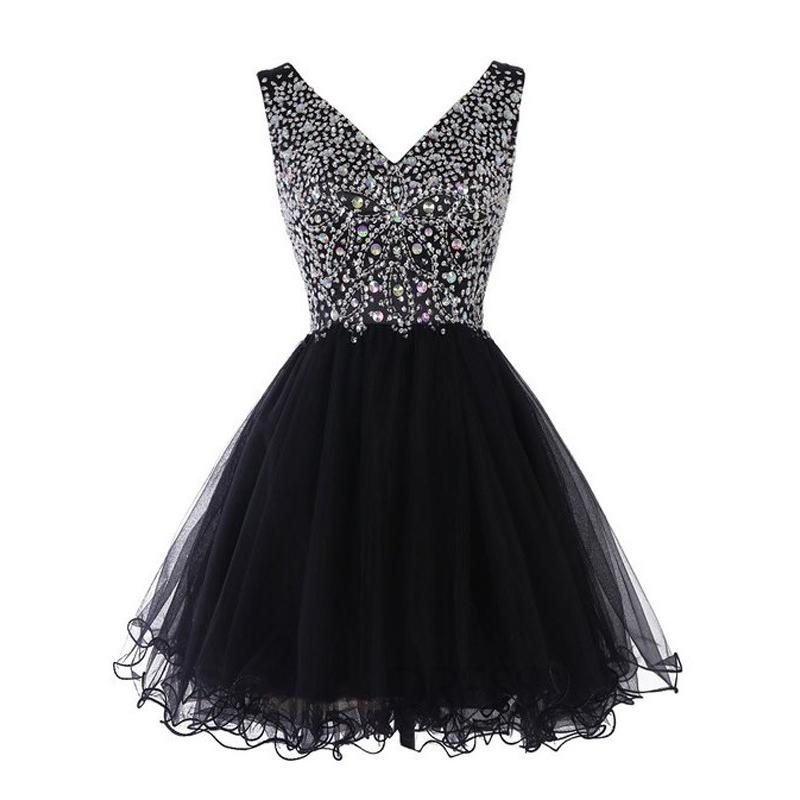 Short Black Princess Dresses