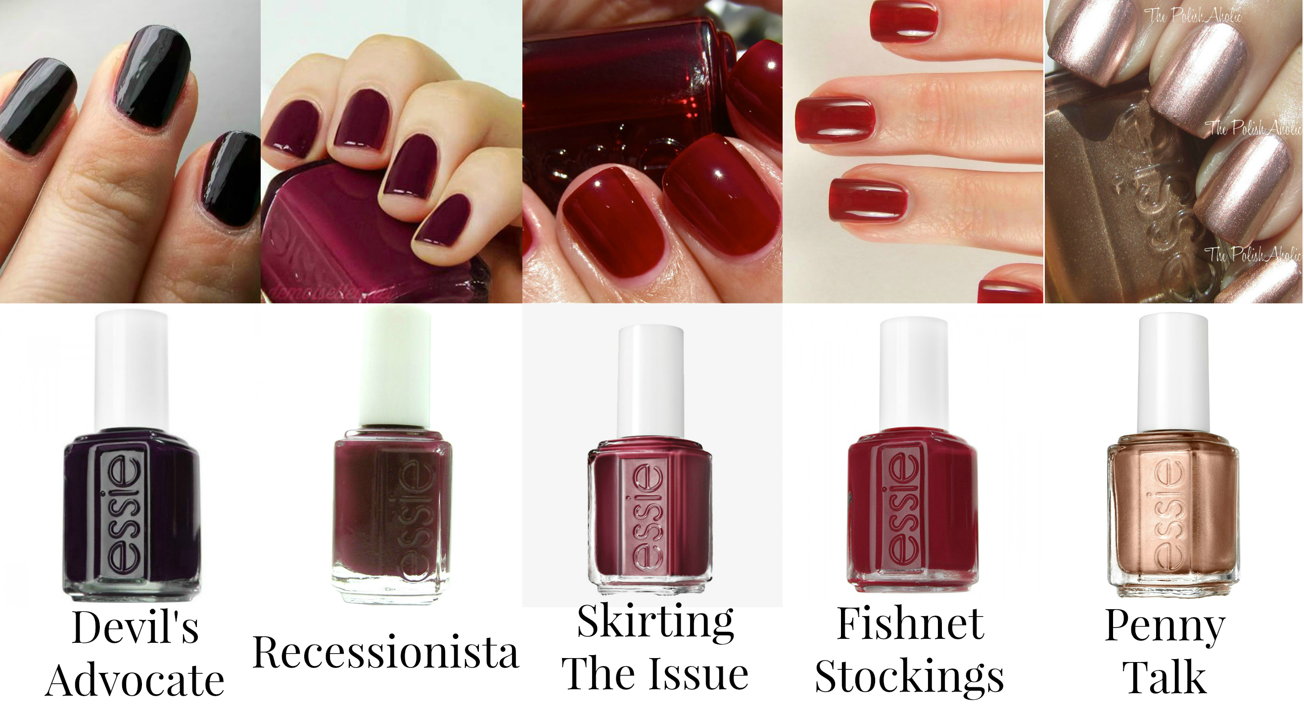 Essie Nail Polishes - Dark Purple, Reds, & Copper - Devil\'s Advocate ...