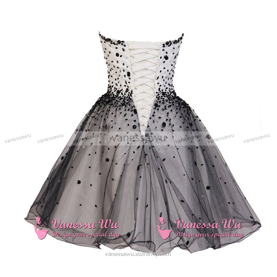 Beautiful Princess Sweetheart Homecoming Dresses Black and White Homecoming Dresses with Sparkly Beads Short Tulle Homecoming Dresses ...  sc 1 st  VanessaWu - Storenvy & Beautiful Princess Sweetheart Homecoming Dresses Black and White ...