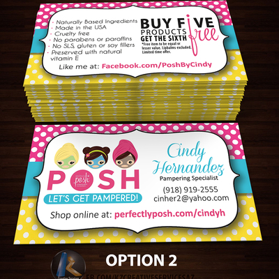Perfectly Posh Business Cards 29 Kz Creative Services Online