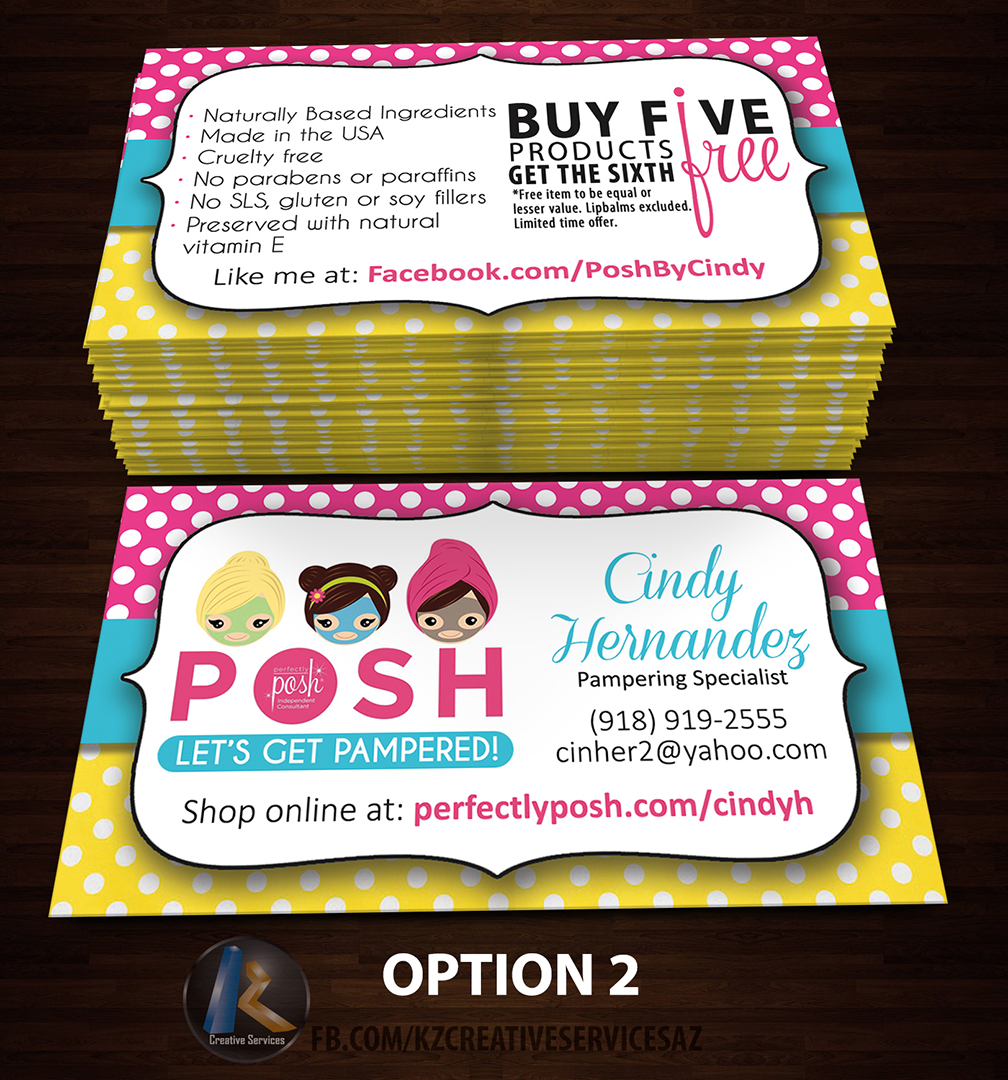 PERFECTLY POSH BUSINESS CARDS - 29 · KZ Creative Services · Online ...