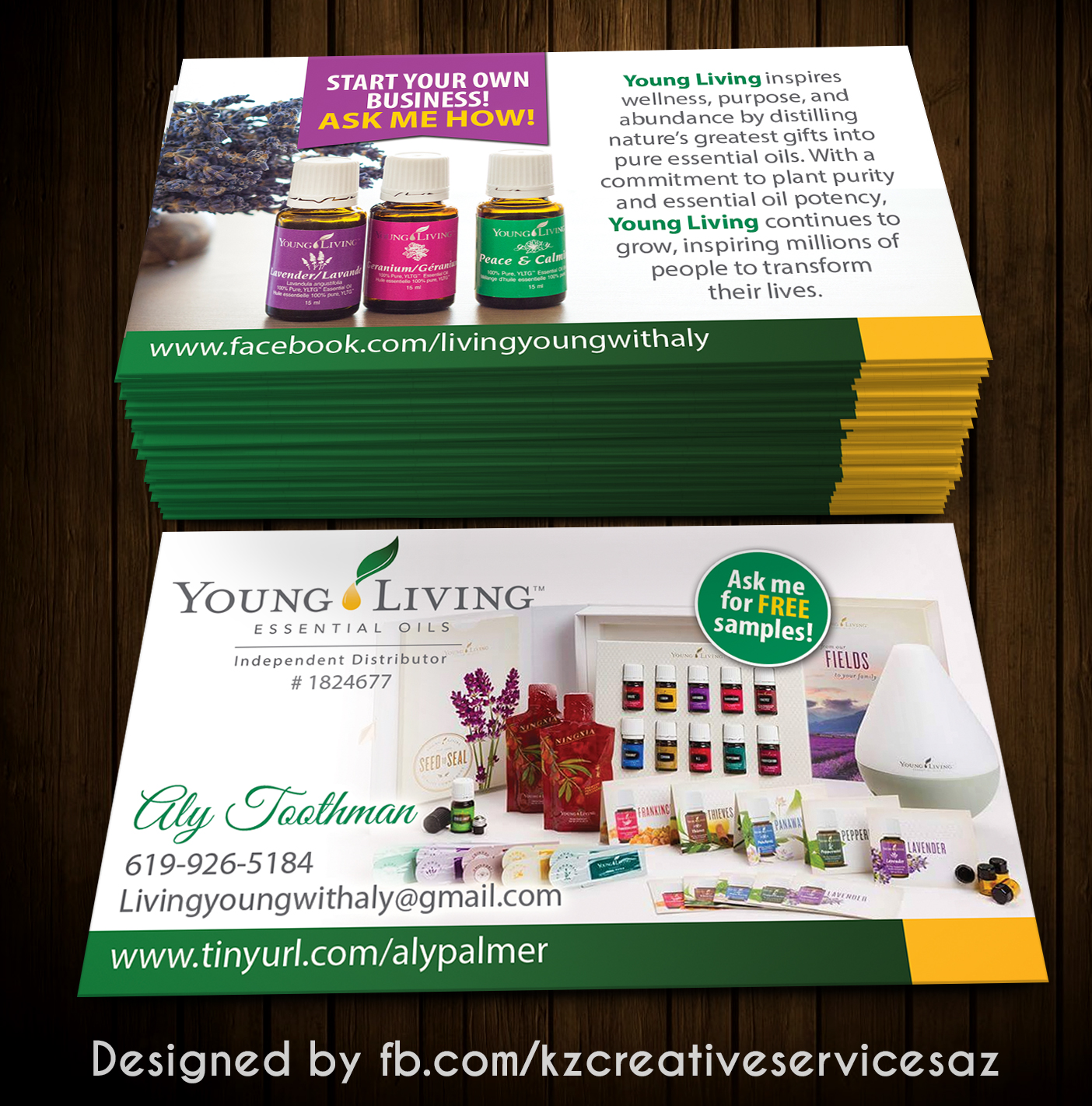 Young Living Business Card 1 · KZ Creative Services · line