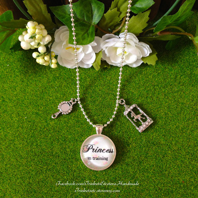 """princess in training"" necklace (silver)"