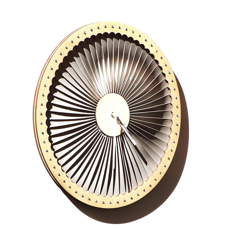 turbine wood plastic wall clock contemporary wall art thumbnail 2 - Designer Wall Clocks Online