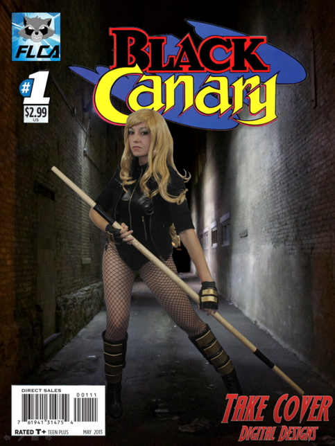 Black canary comic book cover amy nicole cosplay for T shirt printing port saint lucie fl