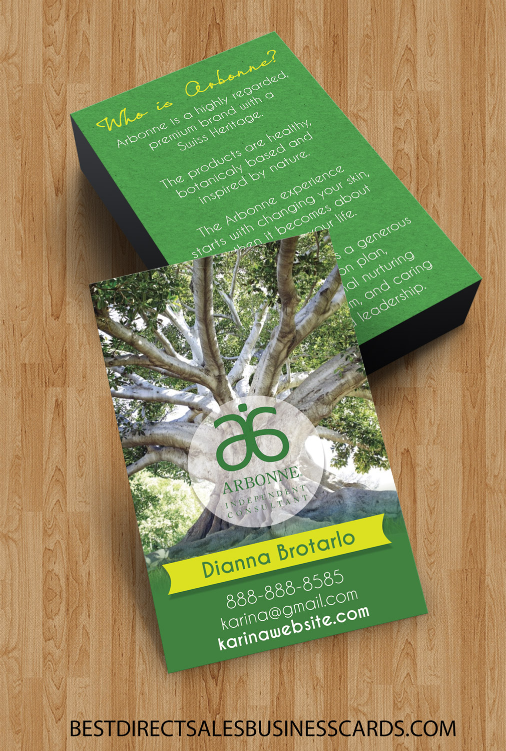 arbonne business cards style 4 · kz creative services · online