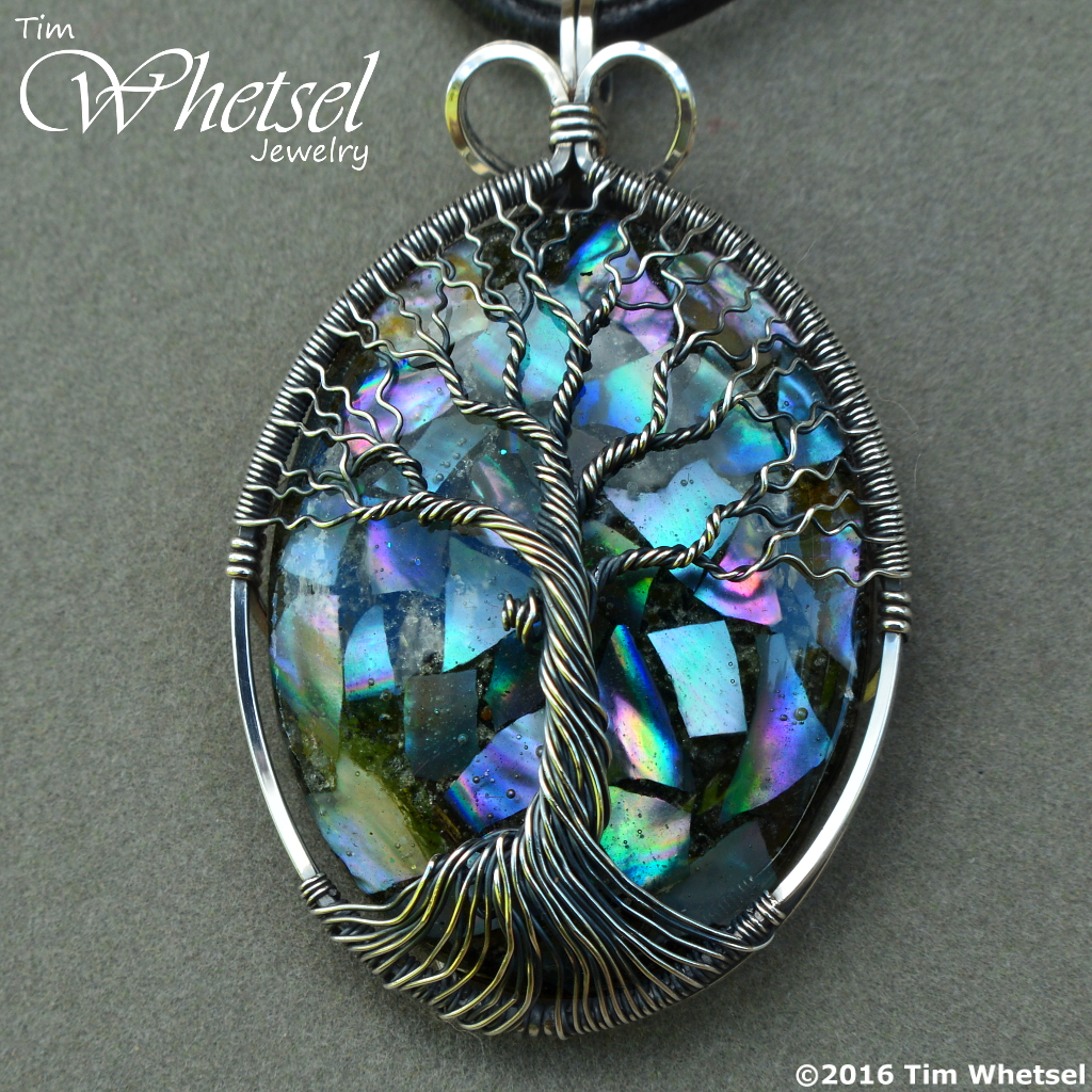Wire Wrapped Tree of Life Pendant with Mother of Pearl ...