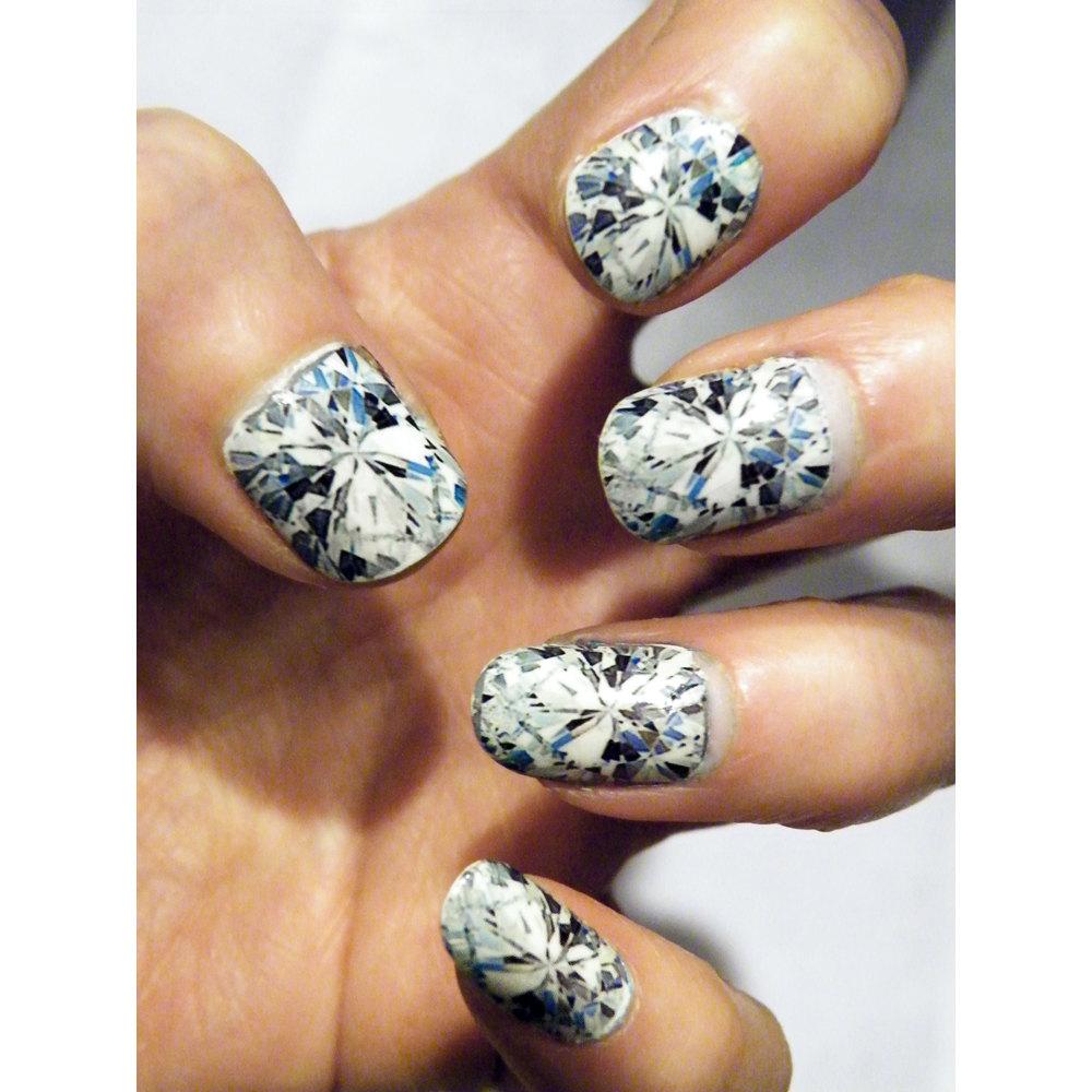 Glass Nails Diamond Nail Art Nails Manicure Diamonds Gem Stone ...