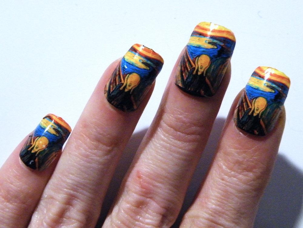 Munch The Scream Nail Polish Art Nails Mani Pedi Art History ...