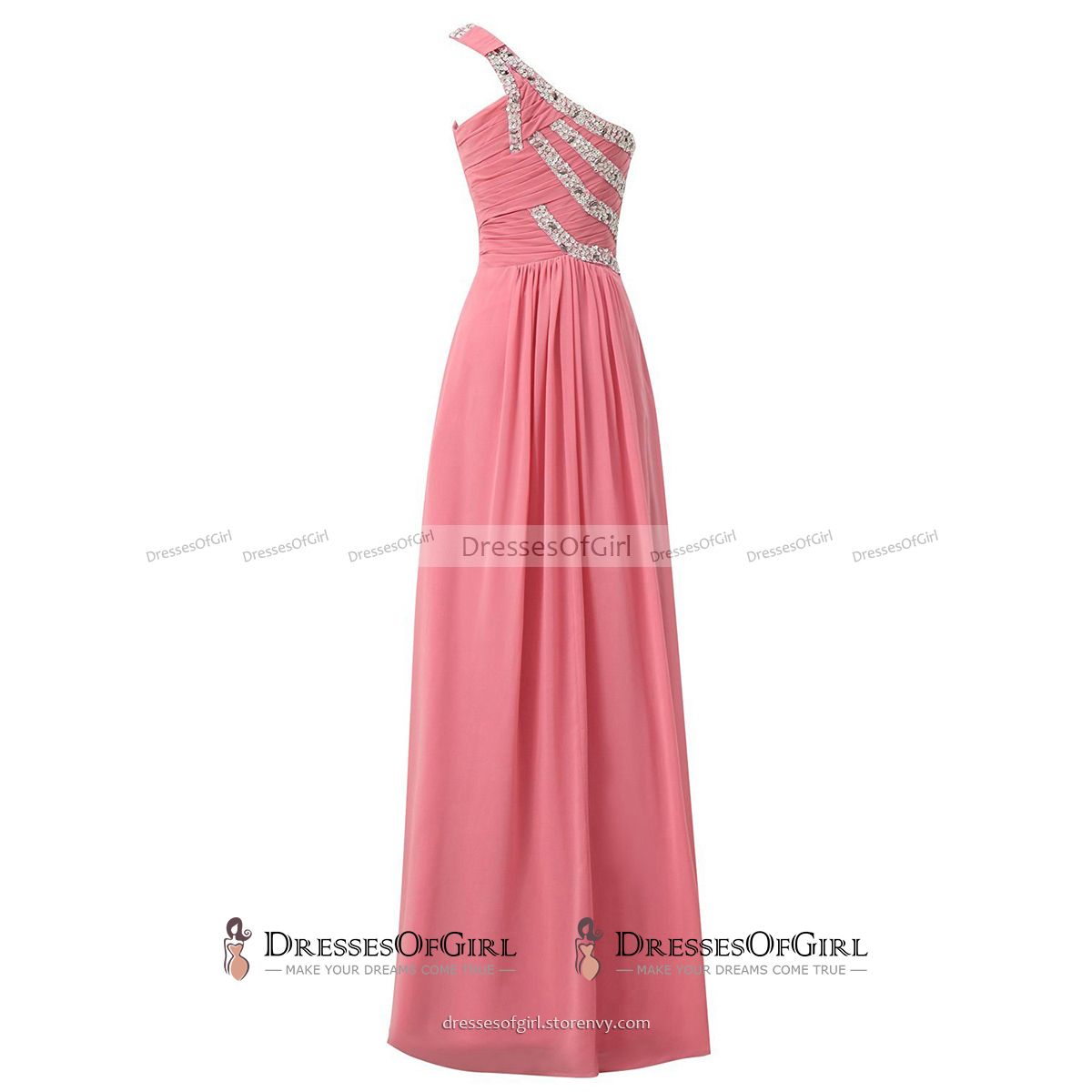 Beaded Sequins One Shoulder Ruched Long Prom Dress, Chic Burgundy ...