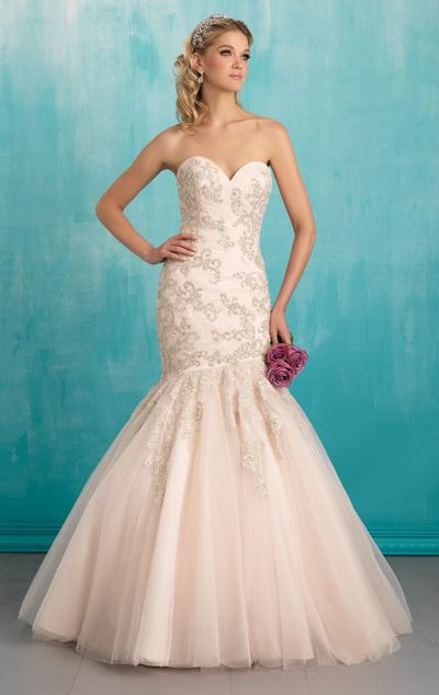 A54 Sweetheart Beading Wedding Gowns, Mermaid Wedding Dress, Long ...