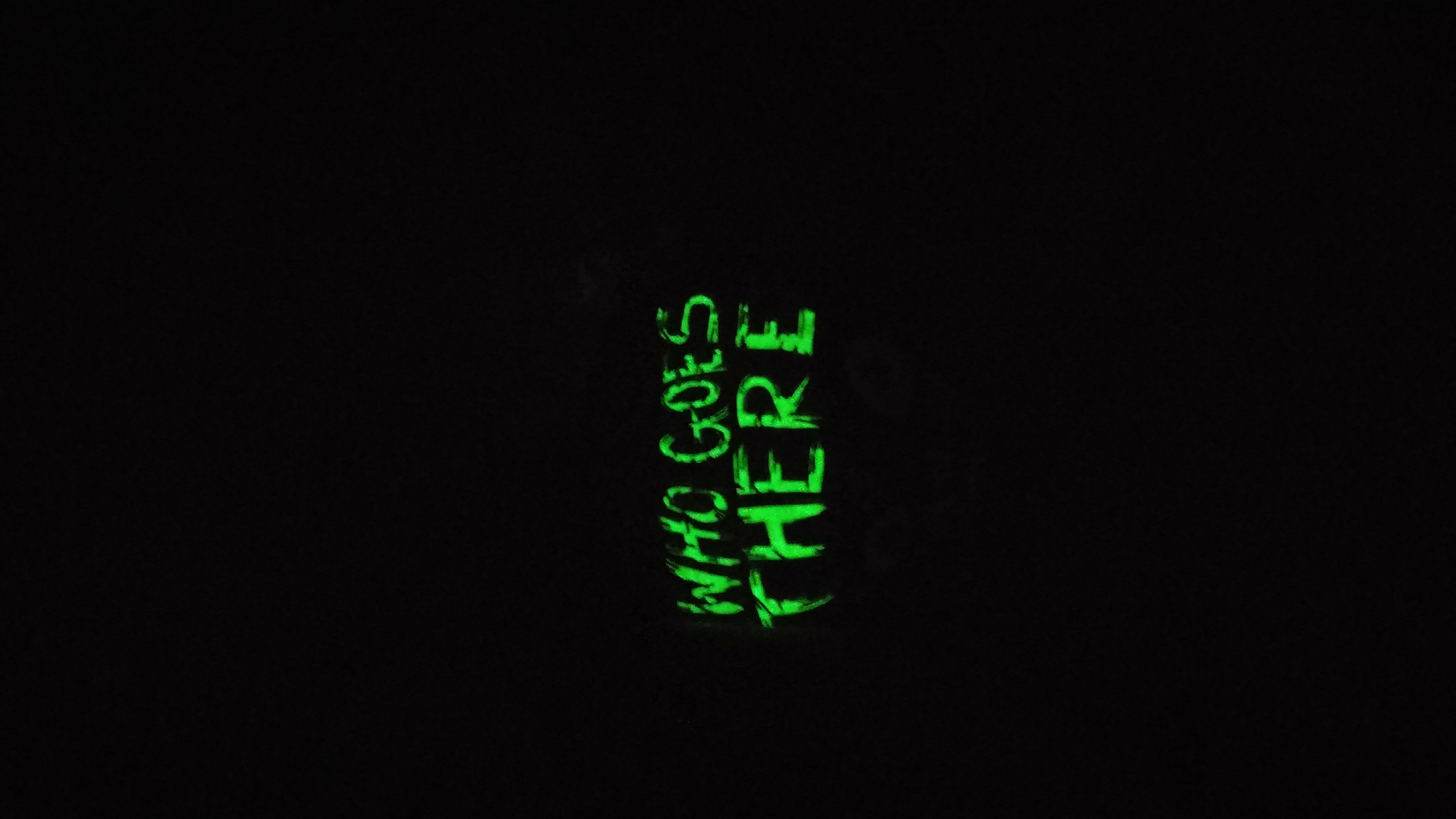 Alien Logo Enamel Pin - GLOW IN THE DARK · Who Goes There Podcast ...