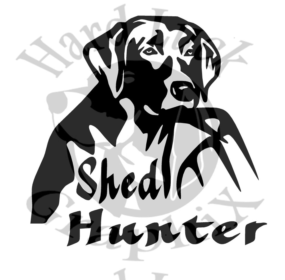 Shed Hunter   Decal  Hard Luck GraphiX  Online Store Powered - Sporting dog decals