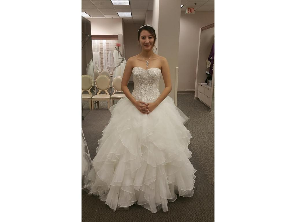 Strapless Ball Gown Tulle Wedding Dress CWG568 · Onlyforbrides ...
