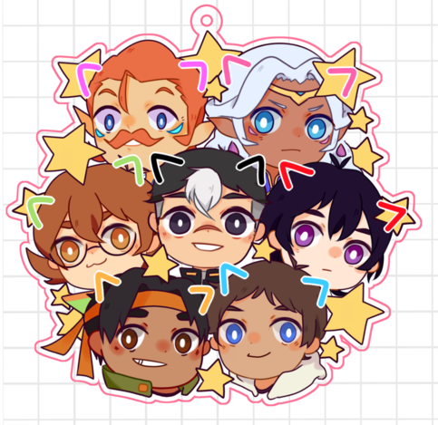 Voltron 5cm Charms On Storenvy