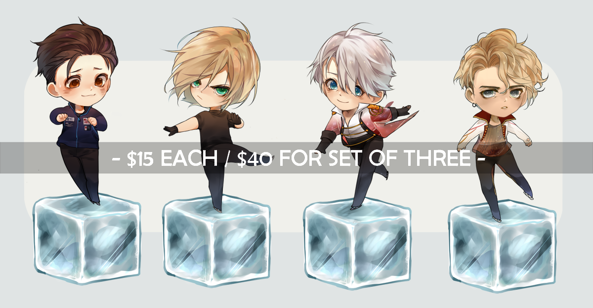 Yuri On ICE Champion Charms PREORDER