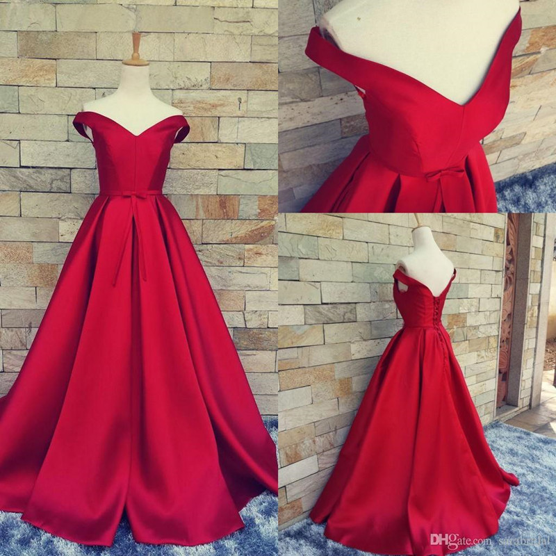 Simple Design Prom Dress,Off-shoulder Prom Dress,Ball Gown Prom ...