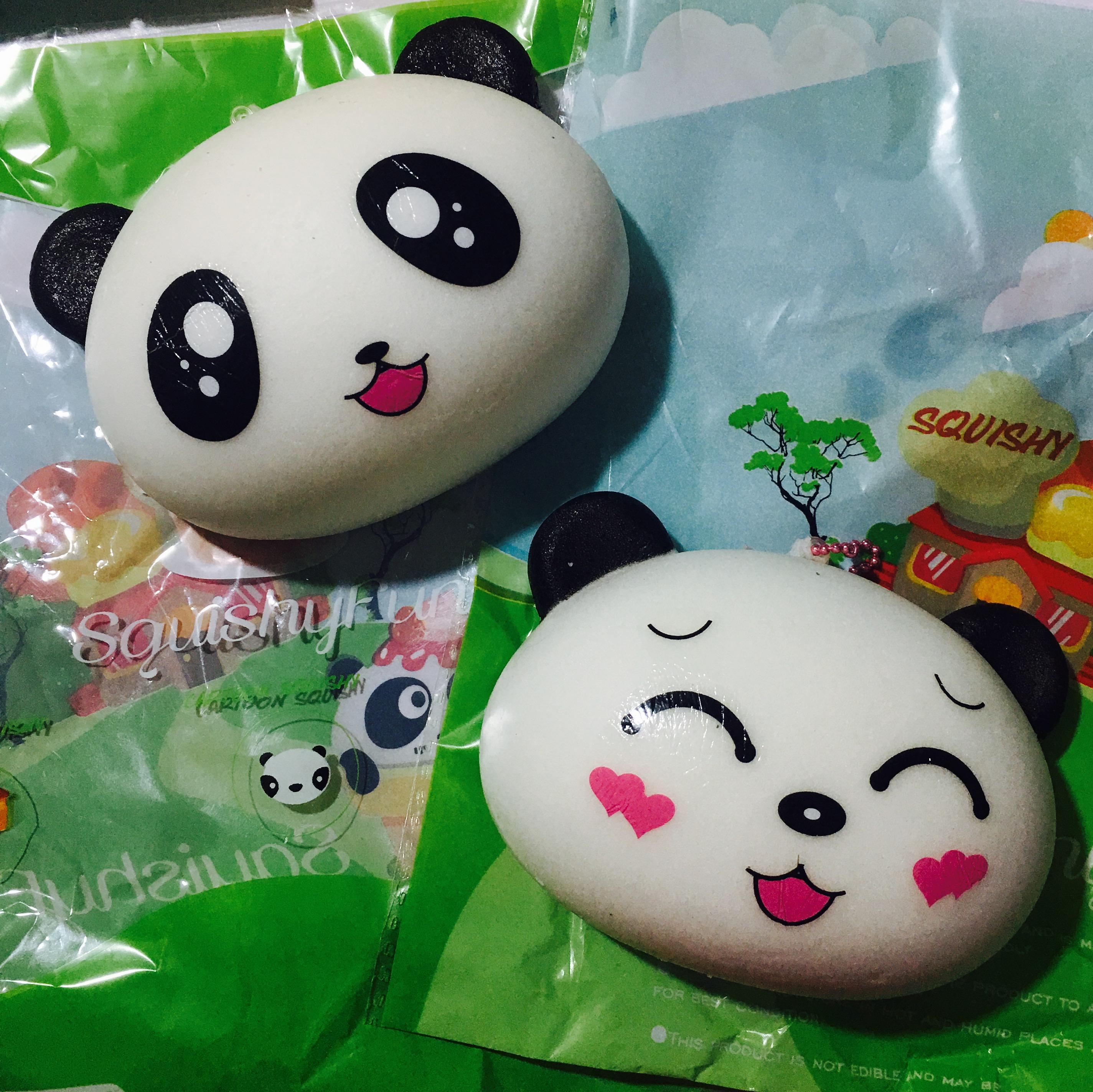 ~SquishyStuff~ Large Panda Head Bun Squishy!! Online Store Powered by Storenvy