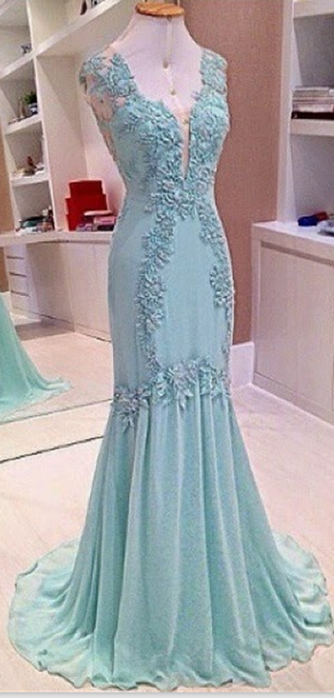Lace Prom Dresses Blue Prom Dress Modest Prom Gown Light Blue Prom ...
