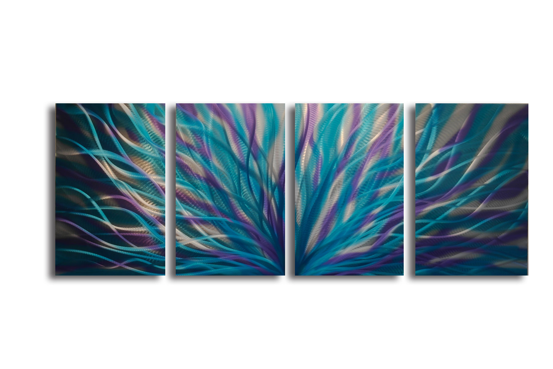 Radiance Blue Purple   Abstract Metal Wall Art Contemporary Modern Decor    Thumbnail 1 ...