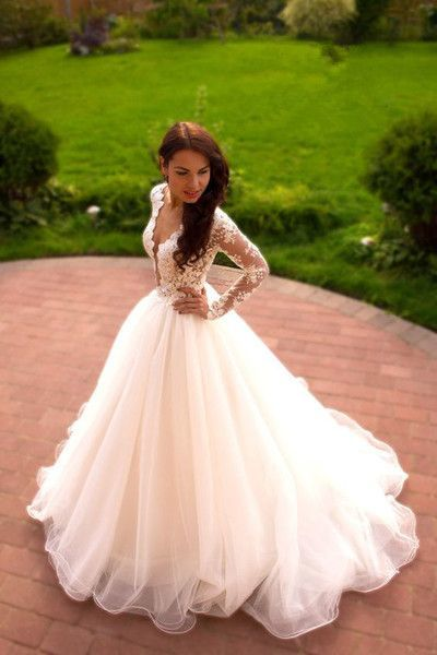 Vintage Boho Summer Wedding Dresses Princess Tulle Lace Tulle Skirt ...