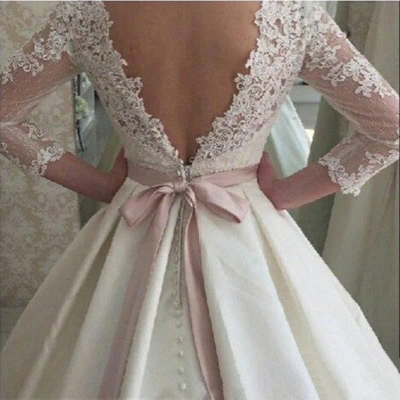 WD57 Lace Backless Wedding Dresses,Wedding Dress,Custom Made Wedding ...