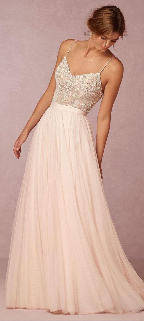 Charming Off White Prom Dress,Spaghetti Straps Evening Dress ...