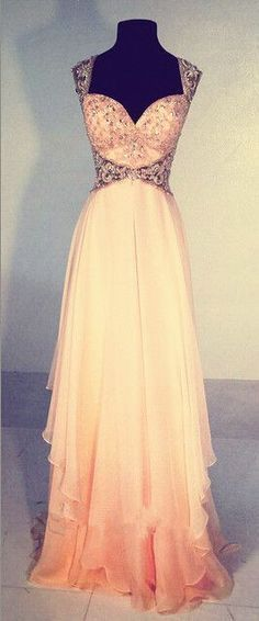 New Style Light Blush Pink Prom Dresses Sparkly Straps Prom Gown