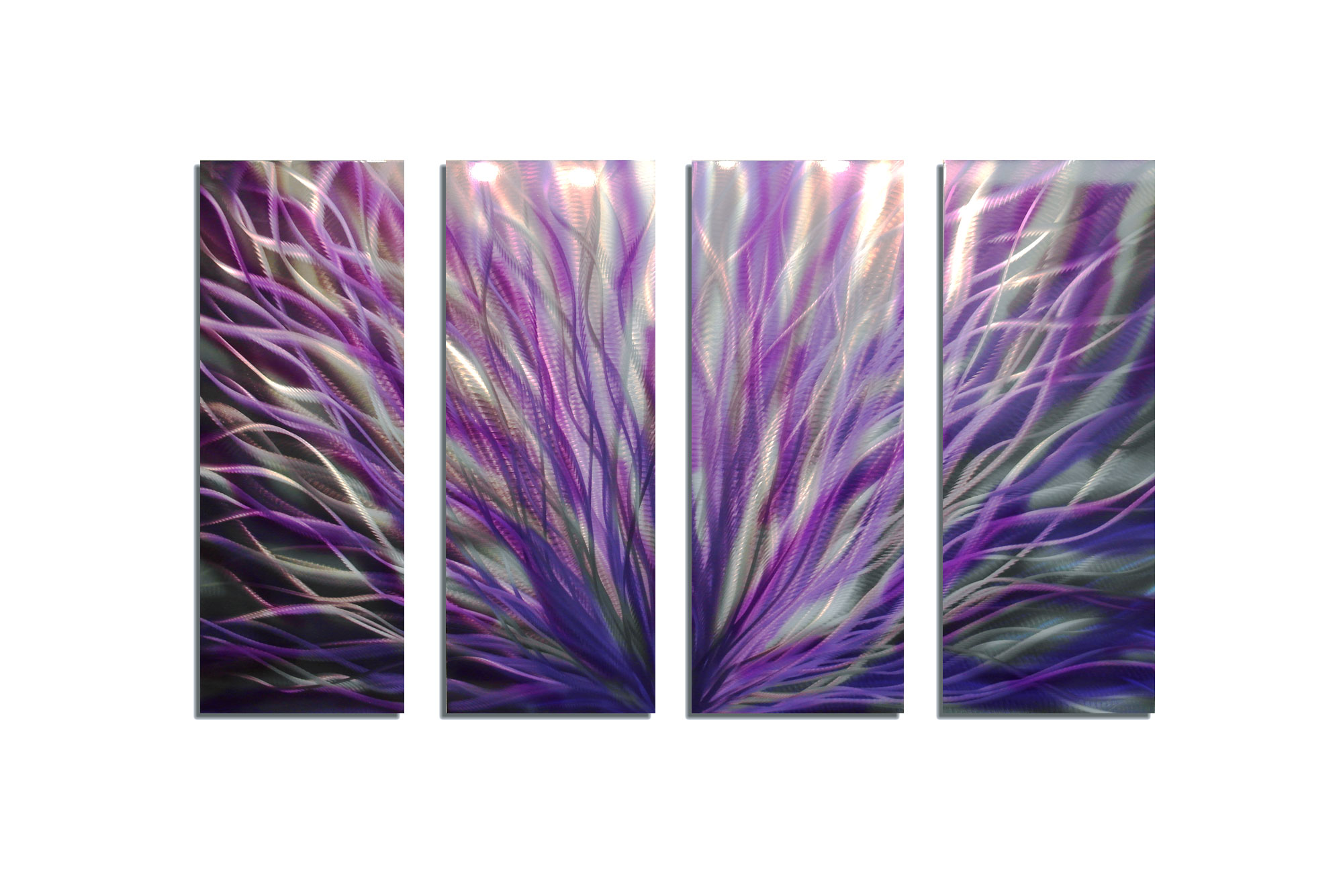 Purple Metal Wall Art radiance purple 36x63 - abstract metal wall art contemporary