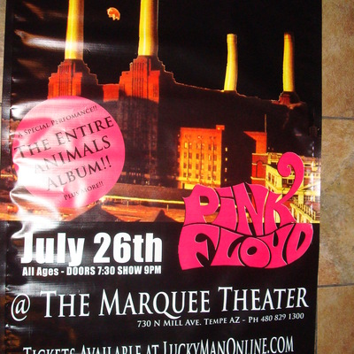 Great gig in the sky 7/26/13 vinyl banner @ marquee theatre