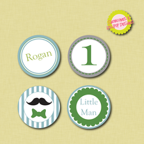 Printable Little Man Circle Label Printables