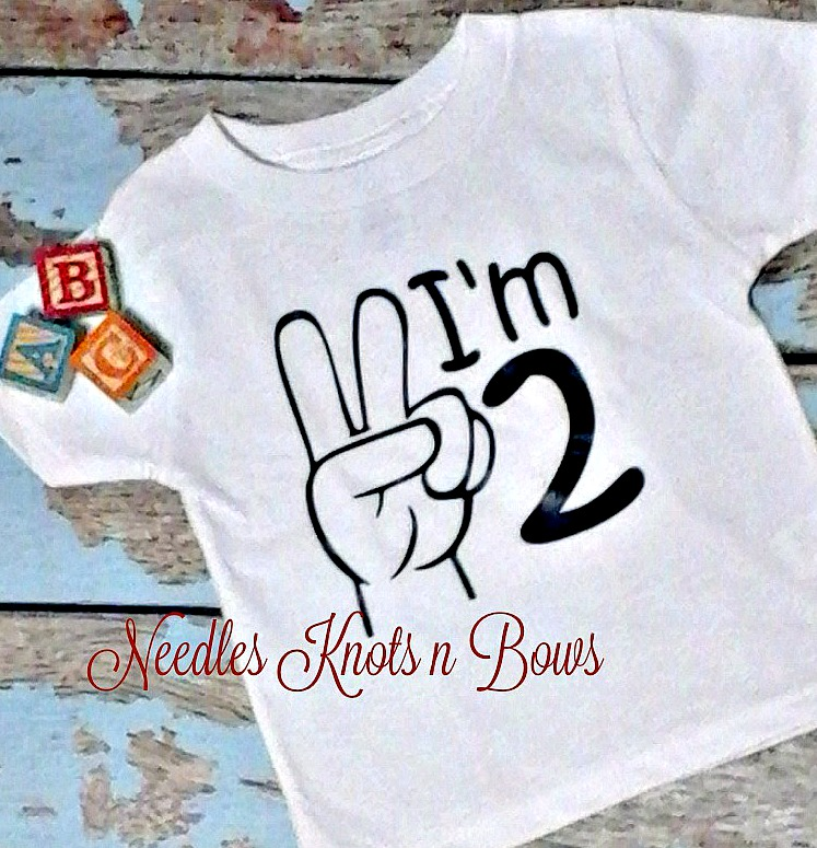 Boys Im 2 Tshirt Or Bodysuit Second 2nd Birthday