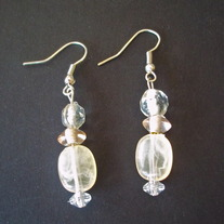 "1"" Transparent shaded earrings"